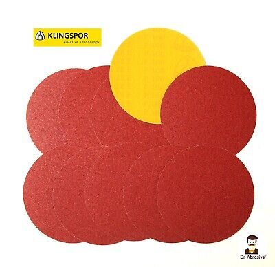 250mm 10 inch Sanding Discs Self Adhesive PSA Sticky Backed 5PK 40 60 80 100 120
