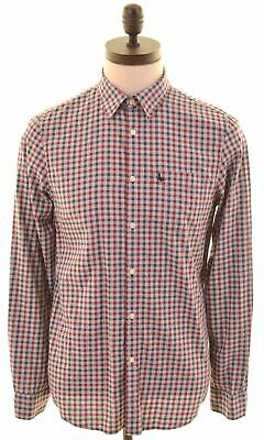 JACK WILLS Mens Flannel Shirt Small Grey Check Cotton Classic Fit  CV17