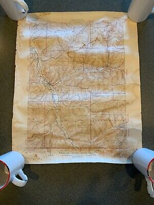 Wellsville New York 1944 Vintage Topographic Map PUBLIC WORKS GEOLOGICAL SURVEY