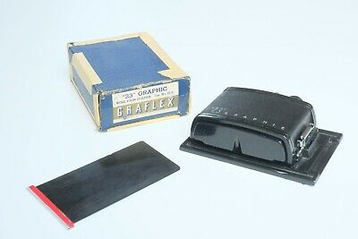 """Graflex 23"""" Graphic Roll Film Holder - Boxed - For Crown Graphic etc"""
