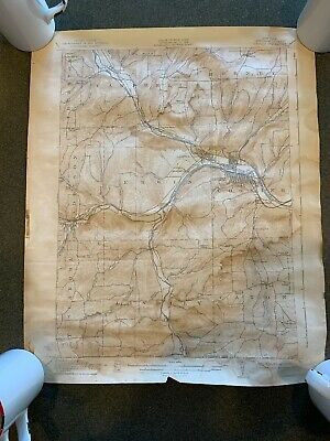 Corning Steuben NY 1939 Vintage Topographic Map PUBLIC WORKS GEOLOGICAL SURVEY