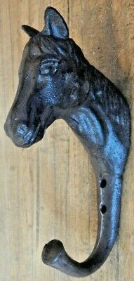 Cast iron wall Hook Horse head Tack room coat hook Hanger Antique rustic style