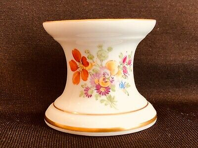Hochst Pansy Candleholder Hand Painted Porcelain New
