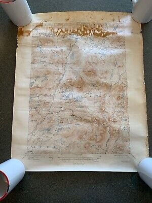 Newcomb NY 1944 Original Vintage Topographic Map PUBLIC WORKS GEOLOGICAL SURVEY