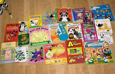 Lot of 21 Interactive Board Books for Children and Kids