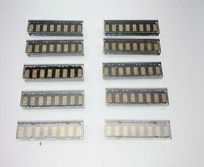 10x OSRAM PDSP1881 LED Alphanumeric Display 5x7Yellow Dot Matrix 8 Digits 4.70mm