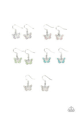 Paparazzi Starlet Shimmer Girls Butterfly Earrings Set of 5 ~ *NEW RELEASE* ~WOW