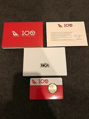 QANTAS 100 Year Anniversary Coin And Pin