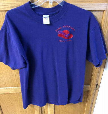 Red Hat Society HEAT PRESS TRANSFER for T Shirt Tote Sweatshirt Fabric #583b