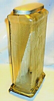 1930'S Vtg Visible Mailbox Glass Embossed Wall Postal