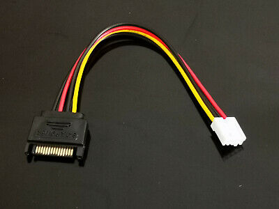 1x SATA 15 Pin Male to Small 4 Pin Female Power Cable 20cm