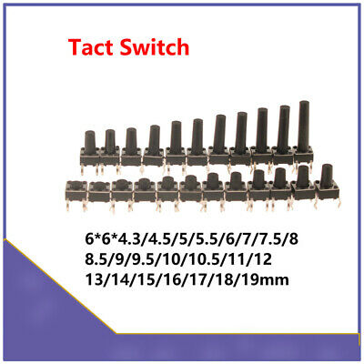 Tactile Push Button Switch Micro Momentary Tact Switch High 6x6x4.3/4.5/5/6mm