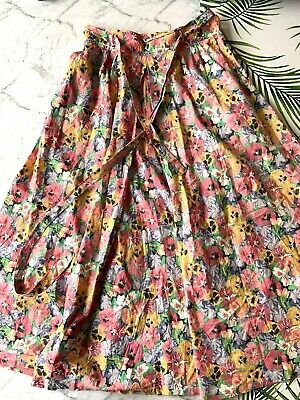 Vintage Sportscraft Floral Skirt New Wave Swing Full  8 Dainty Pleated Pink