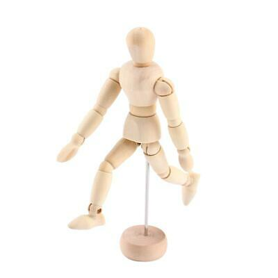 Wooden Male Mannequin Manikin With Adjustbale Arms 8 Inch for Drawing NEW