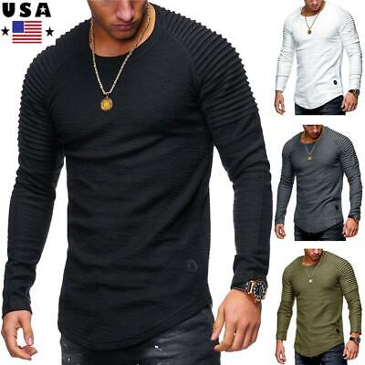 ❤️Thermal Men Slim Fit O Neck Long Sleeve Muscle Tee T-shirt Casual Tops Blouse