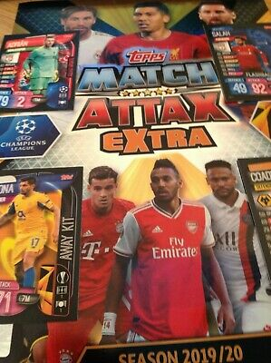 Match Attax Extra 19/20 Champions League  BUY 2 GET 10 FREE BASE CARDS AWAY KITS