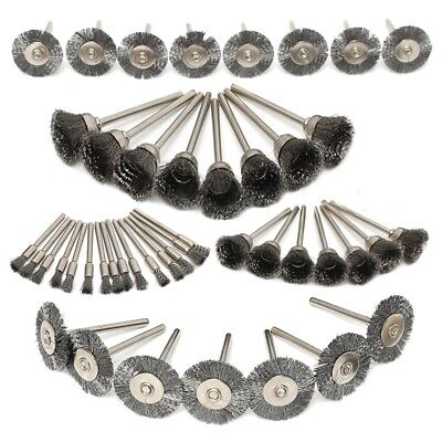 45Pc Steel Wire Wheel Pen Cup Brushes Set Kit Accessories for Rotary Tool U8J8