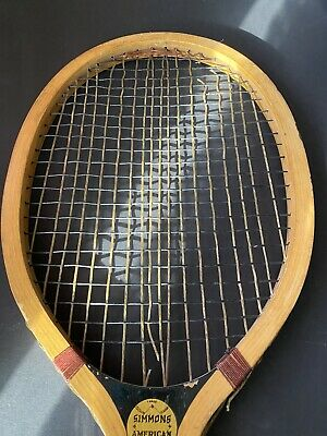 Vintage 1910s (Winchester) Simmons American Wood Tennis Racquet Baseball Logo