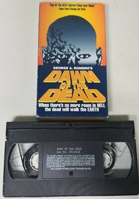 Dawn of the Dead 1978 VHS Tape George Romero Horror Zombies