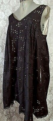 Maeve Anthropologie Womens Sleeveless Black Lace Lace Baby Doll Dress Size Small