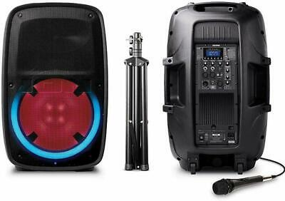 ION Total PA Glow 2 400W Bluetooth PA Speaker System w/ Lights Remote Stand Mic
