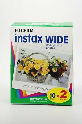 Fujifilm 20-Pack Instax Wide Instant Color Print Film EXPIRED Fuji Instant