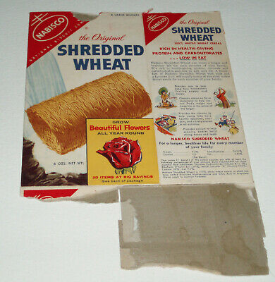 1950's Nabisco SHREDDED WHEAT cereal box