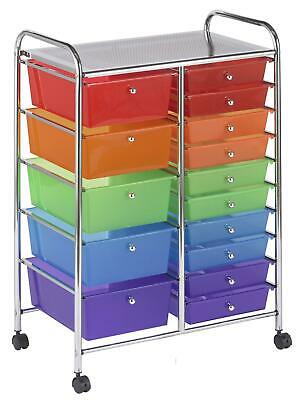 Sand with Assorted Colors ELR-20310-AS ECR4Kids 10-Tray Mobile Storage Organizer