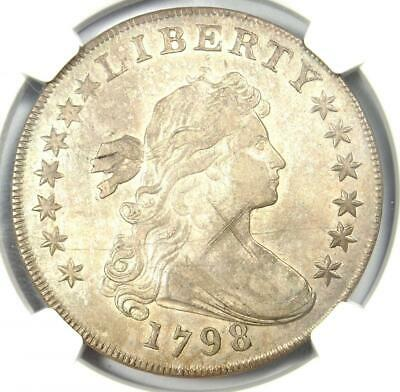 1798 Draped Bust Silver Dollar $1 - Certified NGC AU Details - Rare Coin in AU!