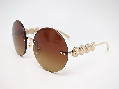 Brand New VERSACE Sunglasses VE 2196B 1252//13 Gold//Brown Gradient For Women