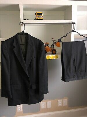 Stafford 2pc Suit Gray Mens Size 42L Pants 36x30