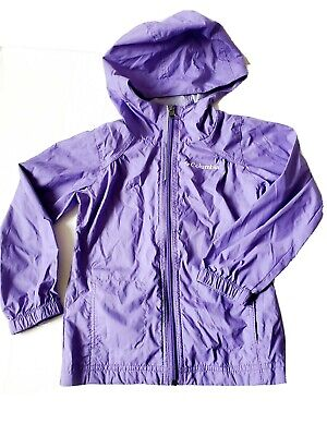 "New Girls Toddler Columbia /""Access Point/"" Waterproof Hooded Rain Jacket Toddler"