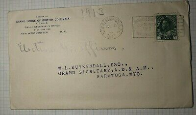 Canada Cover 1913 Provincial Exhibition New Westminster Slogan Cancel Ad Sc#104