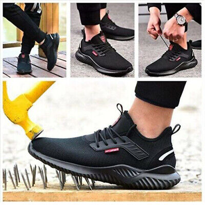 Men Safety Shoes Trainers Steel Toe Work Boots Sports Hiking Shoes Sneakers UK