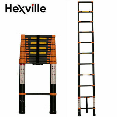 Aluminum Multi-Purpose Telescopic Ladder Extension Foldable 12.5FT 14.5FT 16.5FT