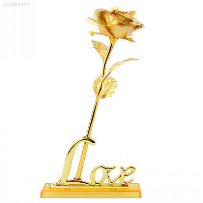 9831 Attractive LOVE Base Rose Flower Frame Base Gold Foil Plating 24K Gold
