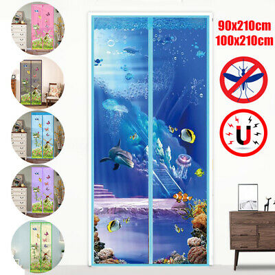 100x210cm Hands-Free Anti-insect Mosquito Fly Mesh Screen Magnetic Door Curtain