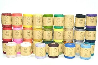 50M Spool - Everlasto 38/6 Coloured Cotton Macrame Craft Twine String 4Mm Approx