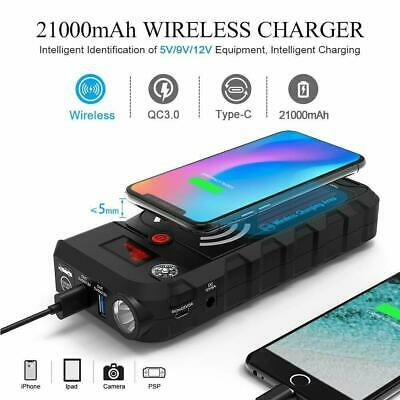 Beatit G18 2000Amp Peak 12V Portable Car Jump Starter 21000mAh Wireless Charger