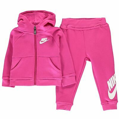 NIKE Girls Pink 2 Piece Tracksuit Jacket & Jogging Bottoms Set 3 Years BNWT