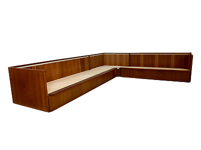 N. Eilersen Teak Case Sofa Sectional Or Couch Mid Century Connectable