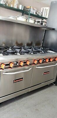 Gently used 10 burner stove with 2 standard ovens