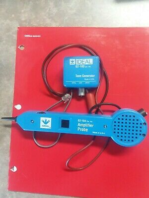 Ideal Tone Generator and Amplifier Probe 62-100 and 62-104. Great Condition.