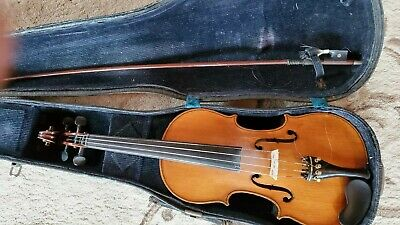 ANTIQUE Violin/Fiddle signed 1907, with original case, bow and documentation