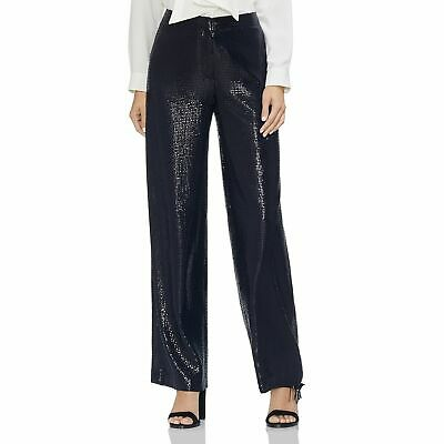 VINCE CAMUTO Sequined Wide-Leg Pants, Classic Navy, 12