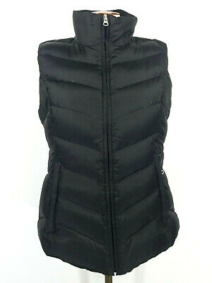 Eddie Bauer Black 550 Fill Goose Down Puffer Vest Womens Small
