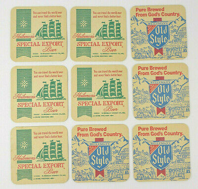 5 Heileman/'s Old Style Special Export Beer Coasters Vintage