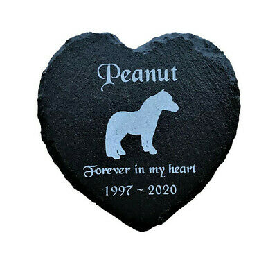 Personalised Engraved Slate Heart Pet Memorial Grave Marker Plaque for a Pony