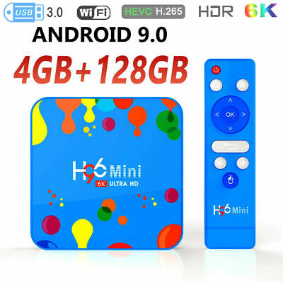 H96 Mini Android 9.0 Smart TV Box 4GB RAM 128GB 6K 1080P HD WIFI IPTV 100M BT4.0