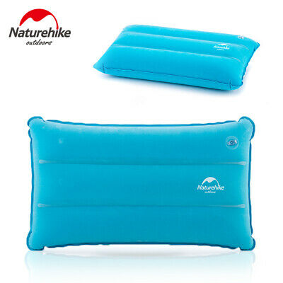 Portable Outdoor Camping Air Inflatable Pillow Folding Flocking Travel Cushion